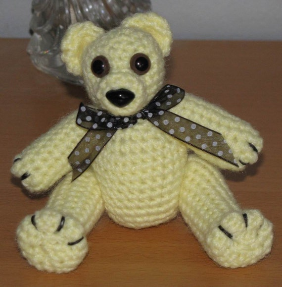 Miniature Crocheted Teddy Bear