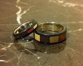 Reserved - Custom ordered wood rings.