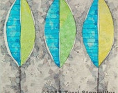 Three Leaves Art Quilt