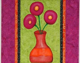 Flower Vase Art Quilt