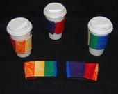 Show your Rainbow Pride Green Sleeve Coffee Cozy