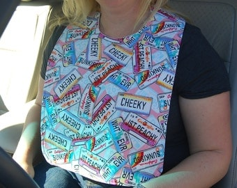 License Plates Adult Bib