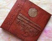 Lunar Journal Refillable Rust Copper 4x4 Handmade Original