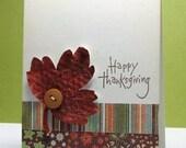 Fall Leaf a Thanksgiving Greeting Card