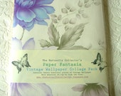 Vintage Wallpaper Paper Fantasia Pack ... 20 A4 Pages