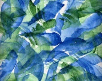 ACEO Abstract Art Card Original Art Watercolor Painting - Tropical