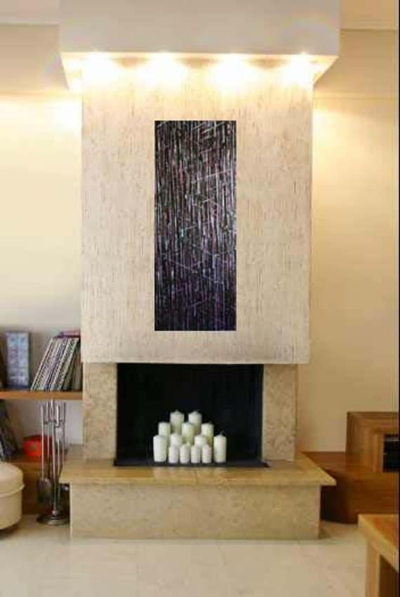"""1/2 Price Original Abstract City Scape  Painting Wall Art Metallic """"City Lights"""" Citycape black pink gray green"""