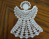Beautiful Large Angel, Tree Ornament, Table Topper, Package Topper, Hand Crochet  - Choose a color
