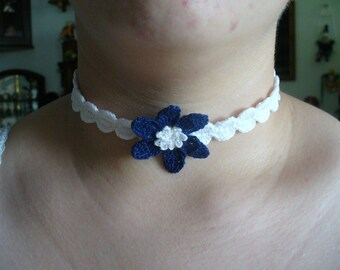 Midnight Delight, Hand Crochet choker - Your choice of colors