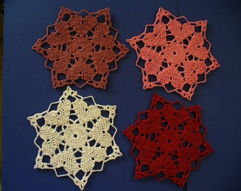 Crocheted Heart Doily- Choose Your Colors