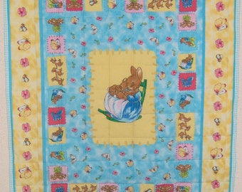Peter Rabbit Baby Quilt FREE SHIPPING