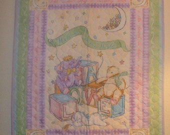 Welcome to the World Baby Quilt FREE SHIPPING