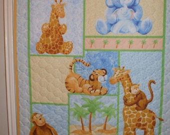 Animals Baby Quilt FREE SHIPPING