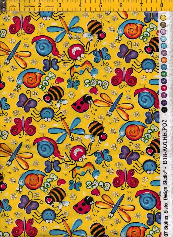 Wild insects fabric by brother sister design studio free shipping