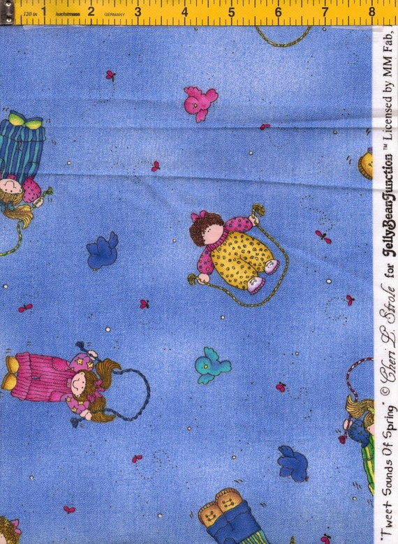 Tweet Sounds of Spring Fabric--by Cheri L. Strole for Jelly Bean Junction and MM Fab Inc FREE SHIPPING
