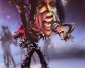 Michael Jackson: Thriller Celebrity Original Airbrush Caricature illustration CURLEE