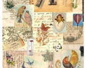 Wall-to-Wall Background #8 - Digital Collage Sheet - Instant Download
