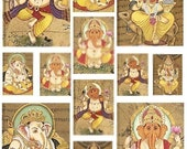Hindu Ganesh Digital Collage Sheet - See Storefront for Monthly Coupon Code