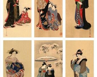 Gracious Geisha No. 2 - Digital Collage Sheet - Instant Download
