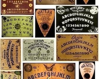 Ouija Boards - Digital Collage Sheet - Instant Download