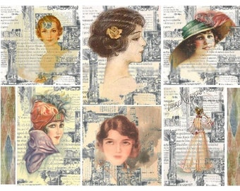 Beautiful Illusion - Digital Collage Sheet - Instant Download