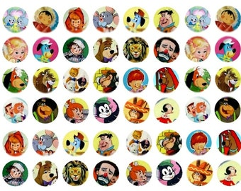 Storybook Characters - 1 Inch Circles - Digital Collage Sheet - Instant Download
