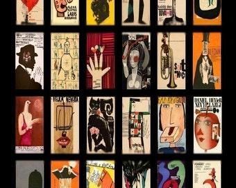 Modern Art No. 1 Domino - 1x2 - Digital Collage Sheet - Instant Download