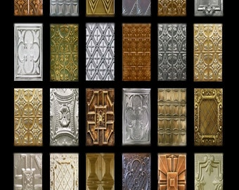 Metallic Patina No. 2 Domino - 1x2 - Digital Collage Sheet - Instant Download