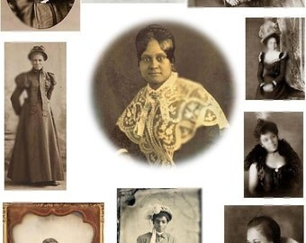 African American Women No. 1 - Digital Collage Sheet - Instant Download