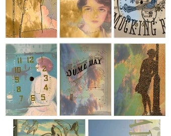 ACEO Backgrounds No. 4 - Digital Collage Sheet - Instant Download
