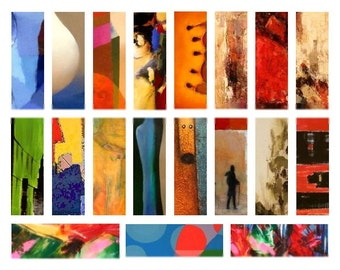 Abstract Art Microscope No. 2 - 1x3 Inch - Digital Collage Sheet - Instant Download