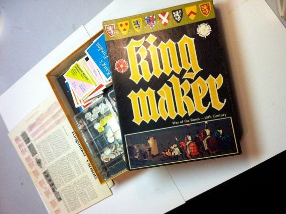Vintage King Maker Game 1978