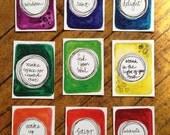 speaking wisdom. set of 9 cards. set no. 1.