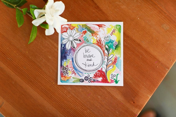 be brave and kind - a soulsister collaboration - limited edition 5x5 sticker set