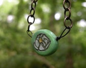 Sculpted White Lotus Necklace Made to Order