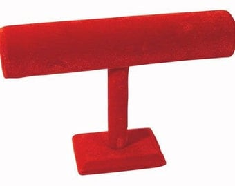 Red Hot Velvet Bracelet Bar Display Stand