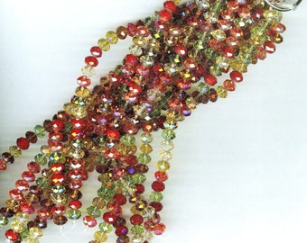 FABULOUS Highly Faceted Autumn Mix Designer Crystal Rondelles 8x5mm