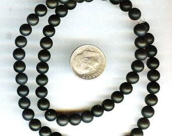 "6mm Matte Black Onyx Beads Round Beads QUALITY 15.5"""