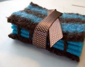 Brown and Turquoise Needle Book