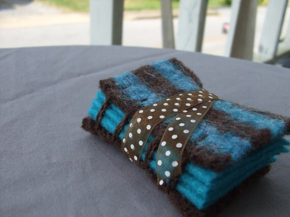 Blue and Brown Needle Case