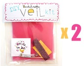 Two (2) DIY Bachelorette Veil Kits // bachelorette, bridal shower activity idea // Do It Yourself Kit