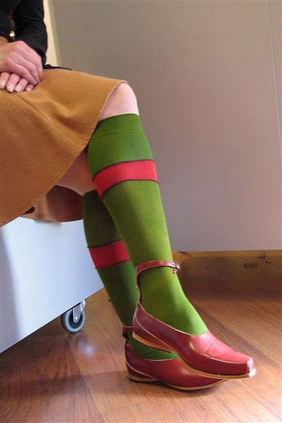 One of Kind Hand Dyed Knee Socks