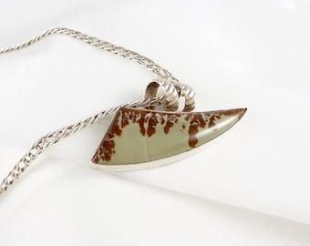 Freeform Jasper Pendant in Sterling Silver