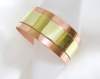 Simplicity BiMetal Cuff - Ladies M, Men's S Bracelet