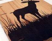 Large Deer Wood Book (pine)