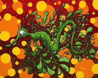 The Mysterious Leafy Seadragon 5x7 print