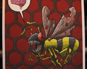Zom Bee Limited Edition Print