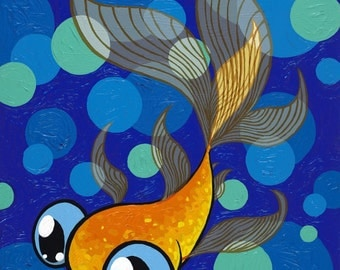 My Goldie 8x10 giclee Print of a goldfish