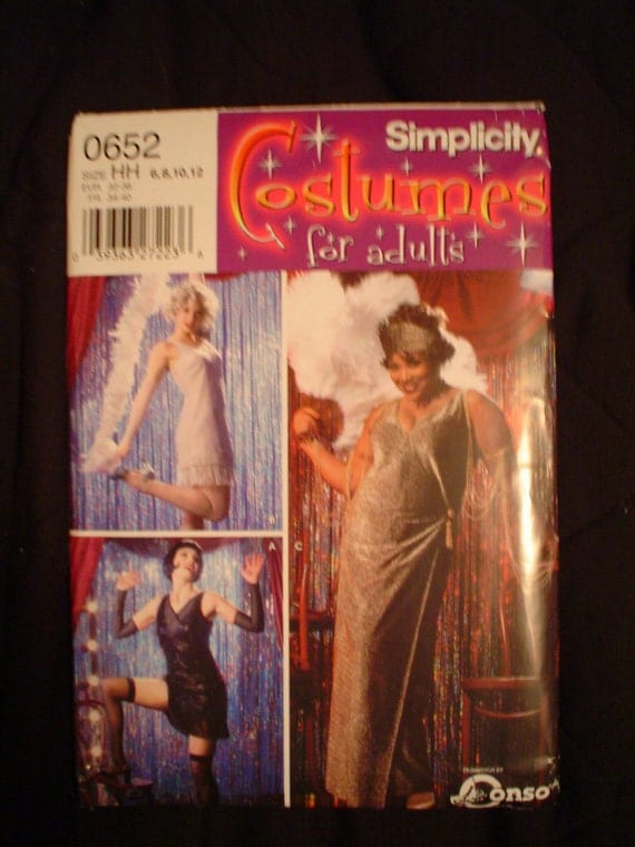 Simplicity 0652 Flapper Costume Pattern