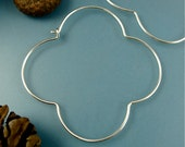 large silver gothic hoops